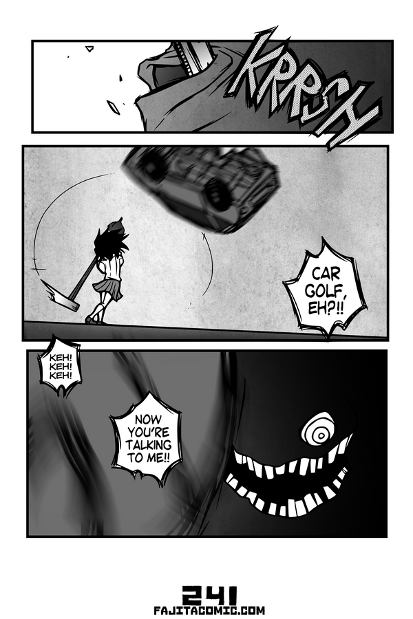 Comic #241 Car Golf
