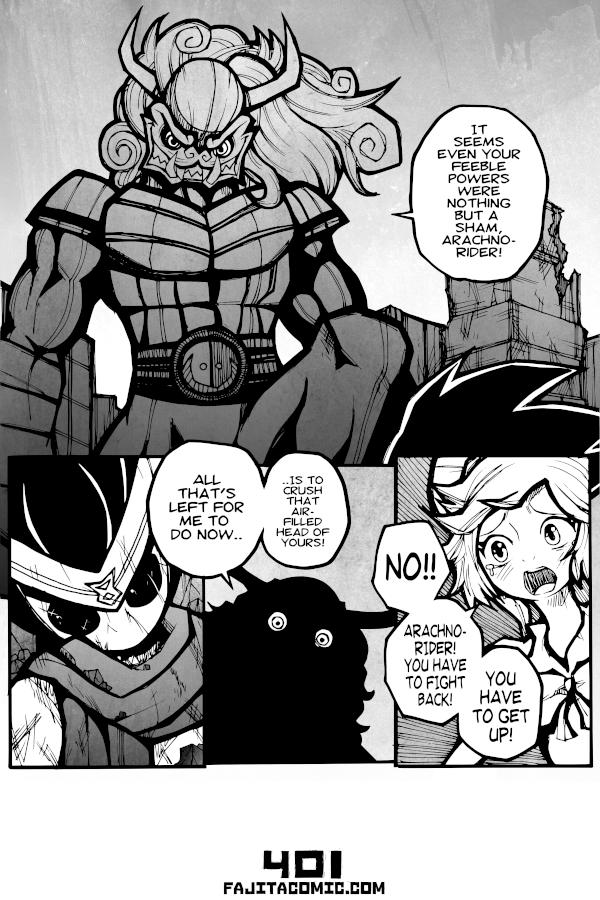 Comic #401 Arachno Rider in a Pinch