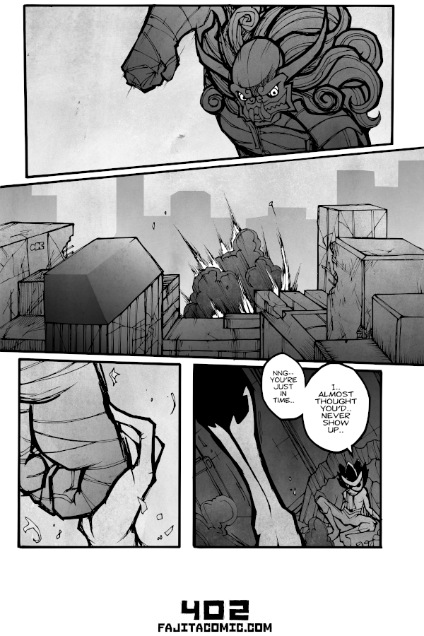 Comic #402 Stopping a Punch