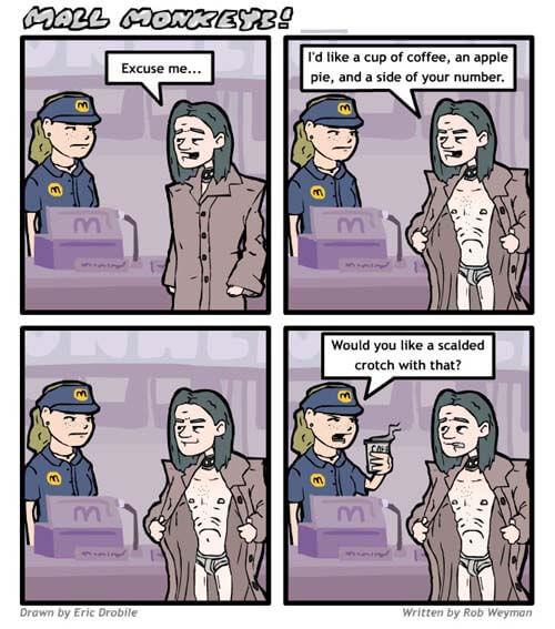 Mall Monkeys Comic - Raymond Macs It
