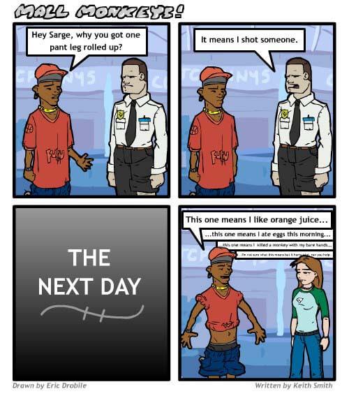 Mall Monkeys Comic - Gangster