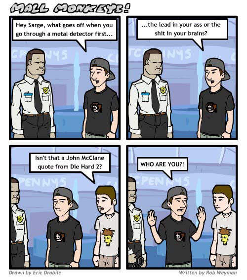 Mall Monkeys Comic - Die Hard 2