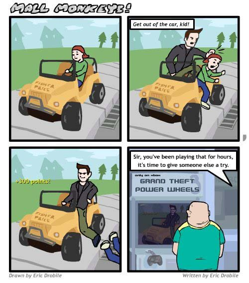 Mall Monkeys Comic - Video Games