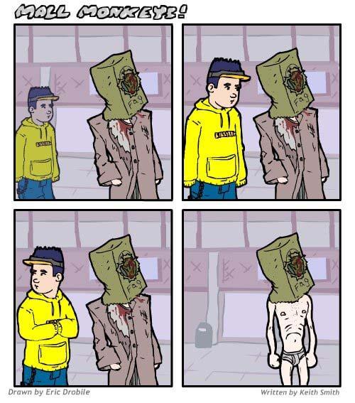 Mall Monkeys Comic - Crime
