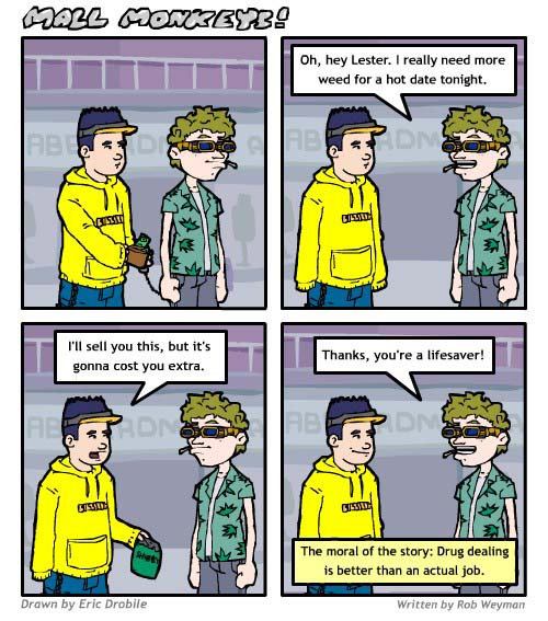Mall Monkeys Comic - A Real Job