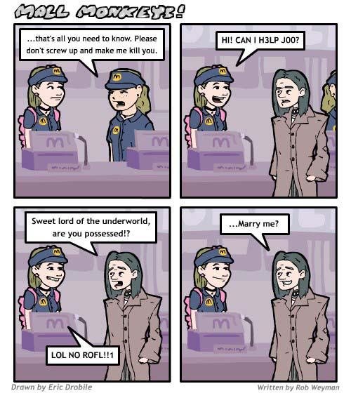 Mall Monkeys Comic - Jamerz Gets a Job