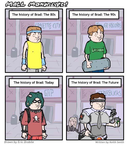 Mall Monkeys Comic - History of Brad