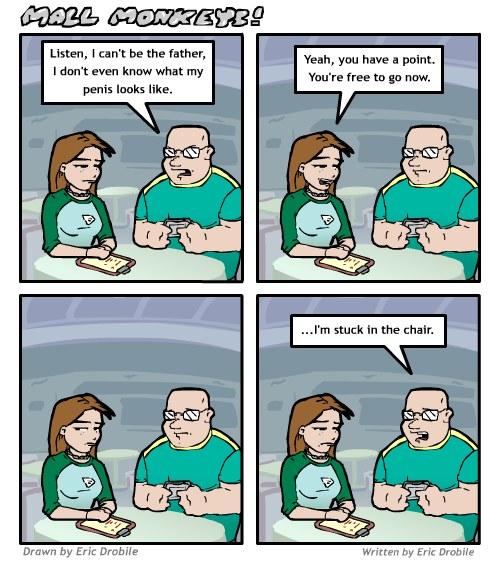 Mall Monkeys Comic - Filbtons Excuse