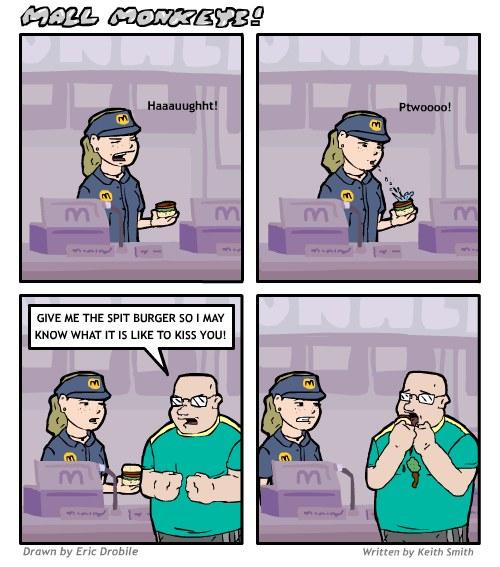 Mall Monkeys Comic - Spit Burger