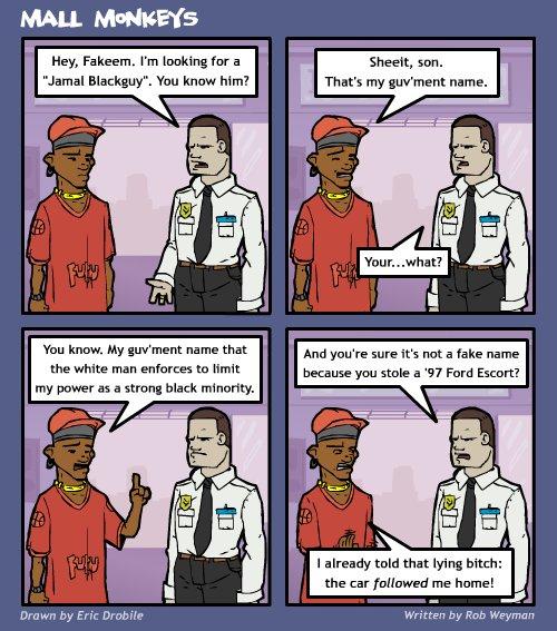 Mall Monkeys Comic - Guv'ment