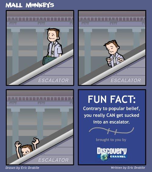 Mall Monkeys Comic - Return of the Escalator