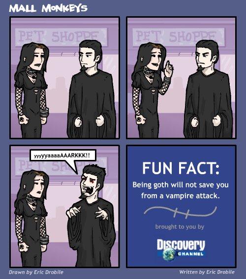 Mall Monkeys Comic - Being Goth