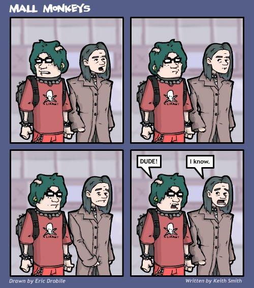 Mall Monkeys Comic - Deep Thought
