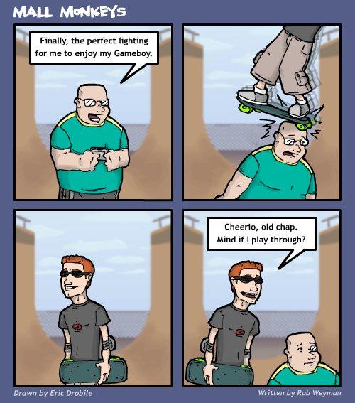 Mall Monkeys Comic - Flying White People