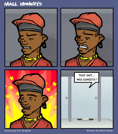 Mall Monkeys Comic - Quite Literally