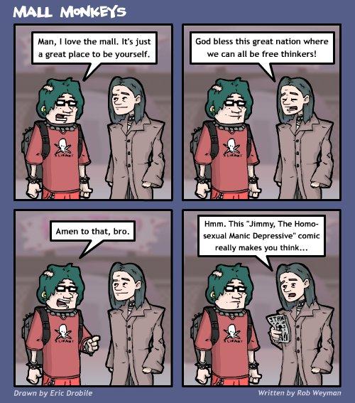 Mall Monkeys Comic - Fine Commentary