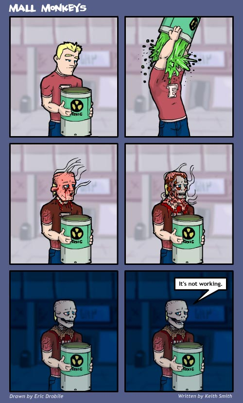 Mall Monkeys Comic - Daredevil Style