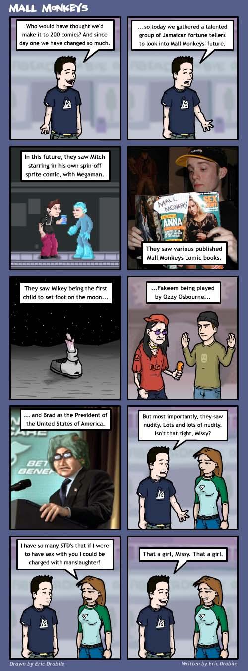 Mall Monkeys Comic - MM's 200th Comic!