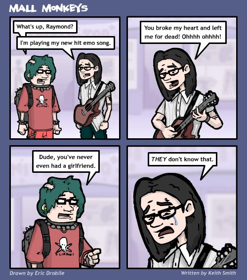 Mall Monkeys Comic - Emo = Pop