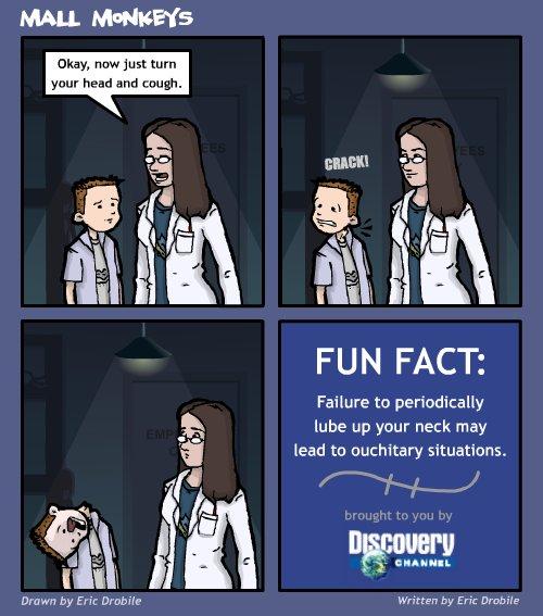 Mall Monkeys Comic - Physical