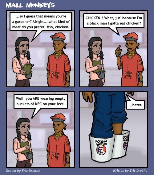 Mall Monkeys Comic - Ghetto Survey