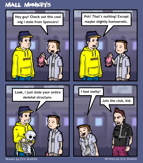 Mall Monkeys Comic - Kleptomania