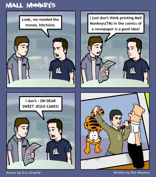 Mall Monkeys Comic - Selling Out Hardcore