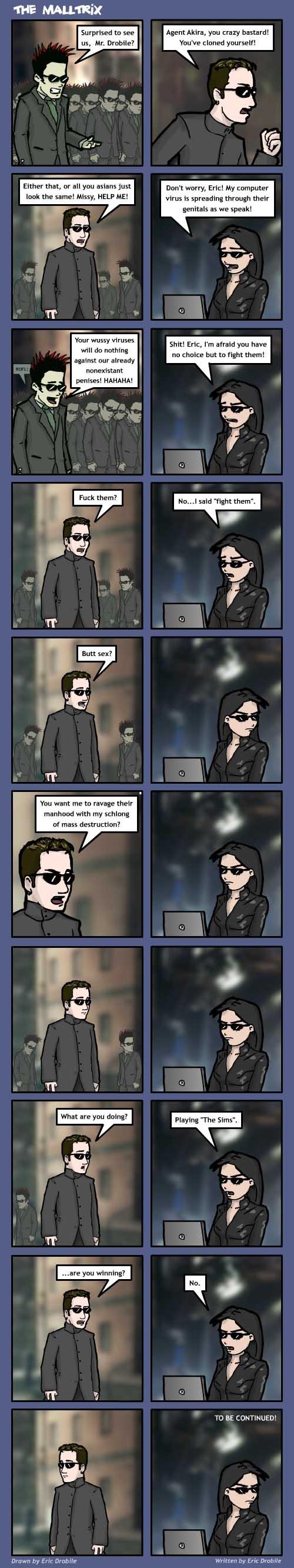 Mall Monkeys Comic - The Malltrix Part 1
