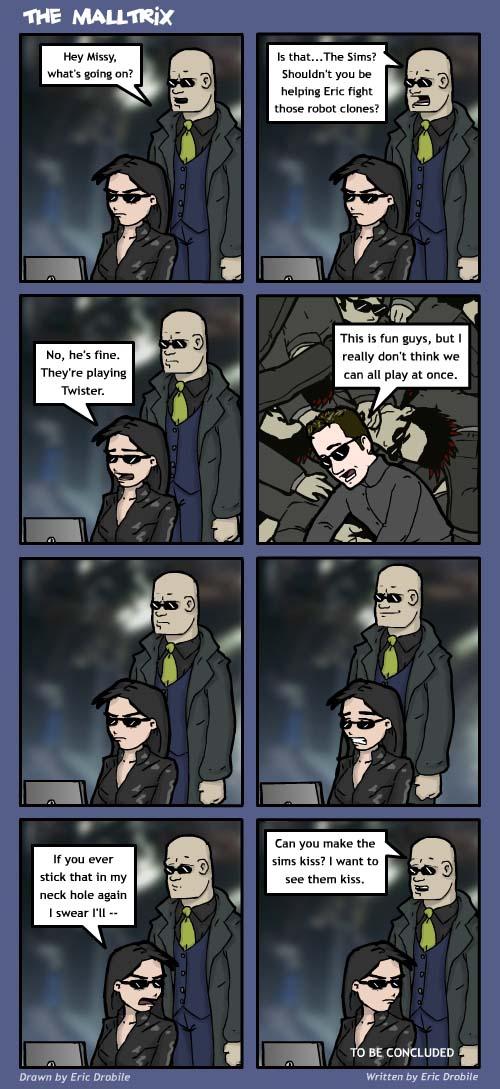 Mall Monkeys Comic - The Malltrix Part 2
