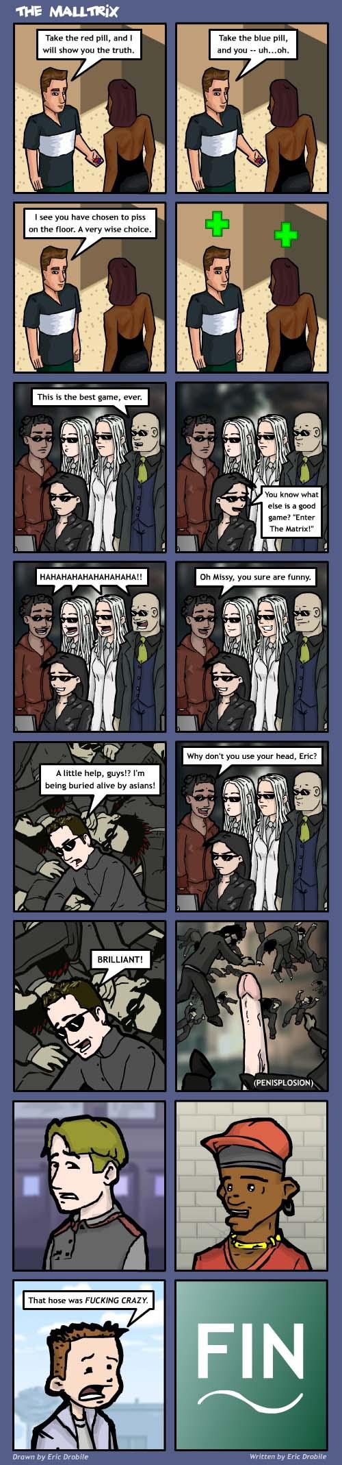 Mall Monkeys Comic - The Malltrix Part 3