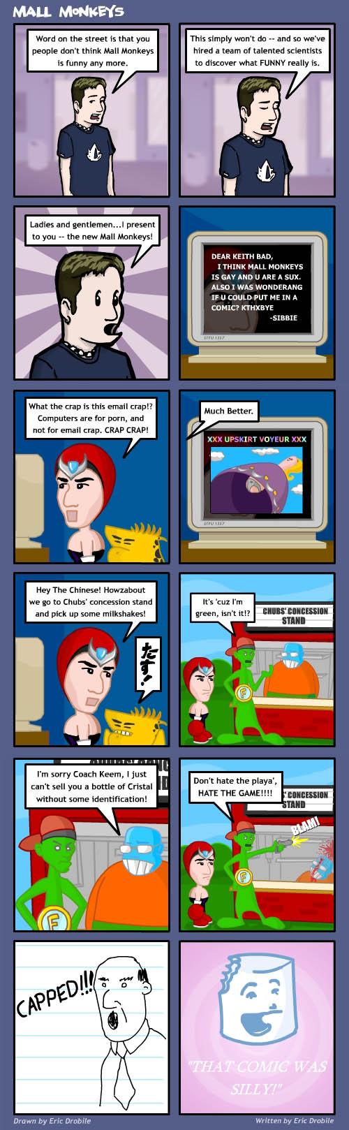 Mall Monkeys Comic - Homestar Monkeys