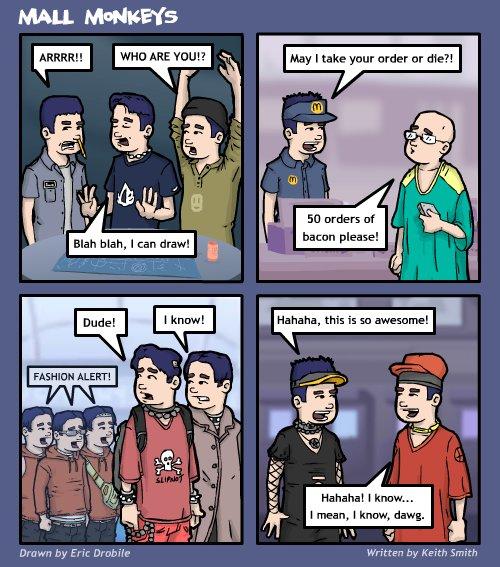 Mall Monkeys Comic - Lester Wins