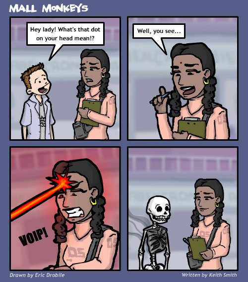 Mall Monkeys Comic - Burnt or Dead