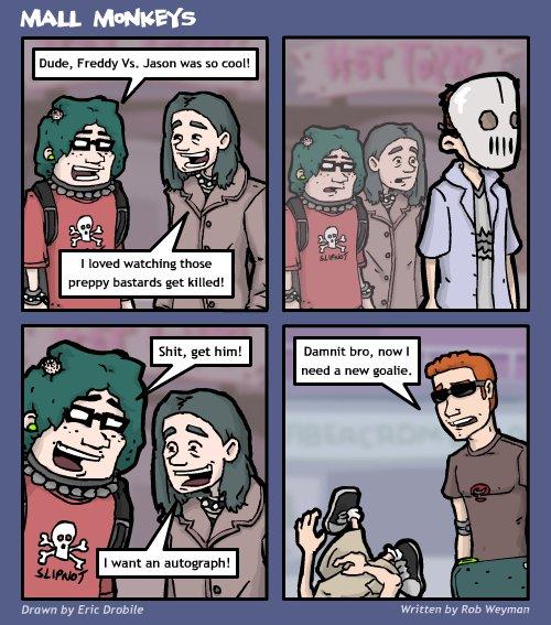 Mall Monkeys Comic - Freddy vs. Sanity