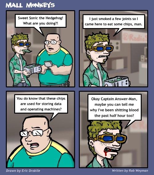 Mall Monkeys Comic - Munchies