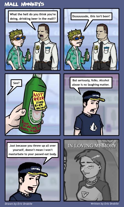 Mall Monkeys Comic - Beer is Queer