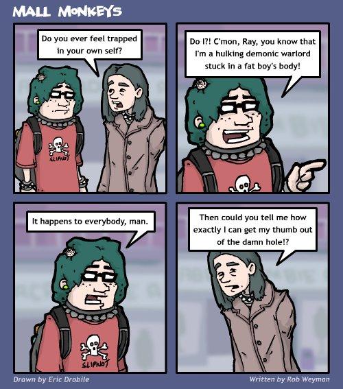 Mall Monkeys Comic - Trapped