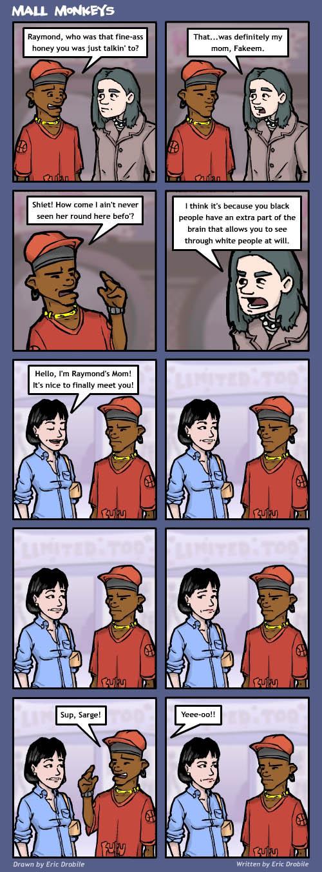 Mall Monkeys Comic - Raymond's Mom