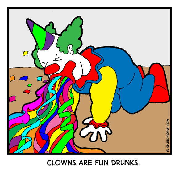 Clowns Are Fun Drunk - webcomic strip