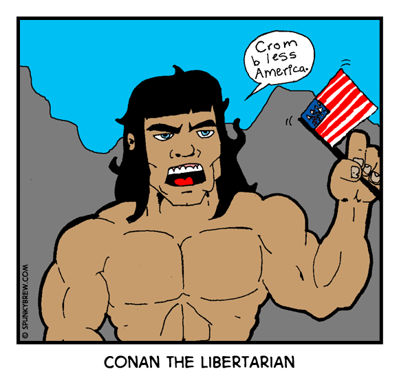 Conan the Libertarian - webcomic strip