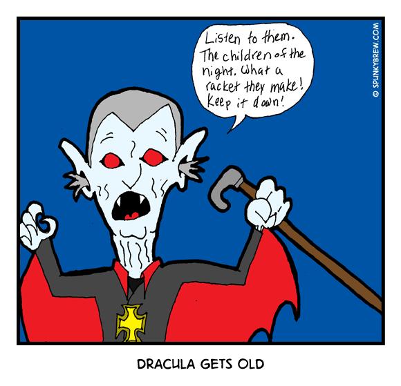 Dracula Gets Old - webcomic strip