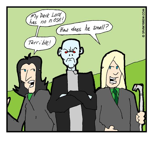 My Dark Lord has no nose! - webcomic strip