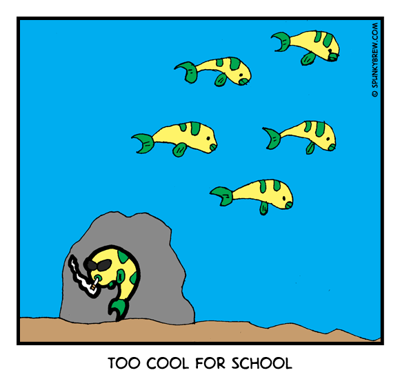 Too Cool for School - webcomic strip