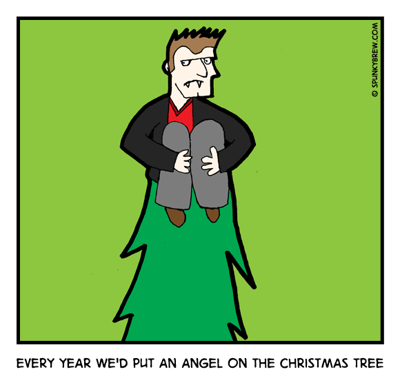 Every year we'd put an Angel on the Christmas tree - webcomic strip