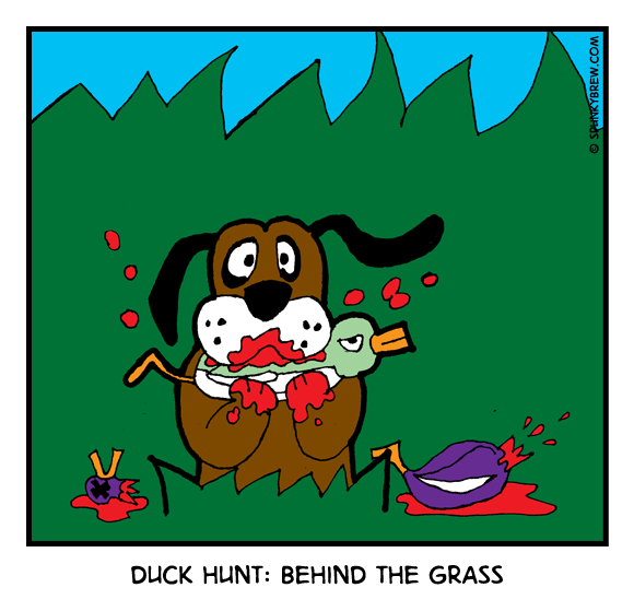 Duck Hunt: Behind The Grass - webcomic strip