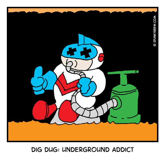 Dig Dug: Underground Addict - webcomic strip