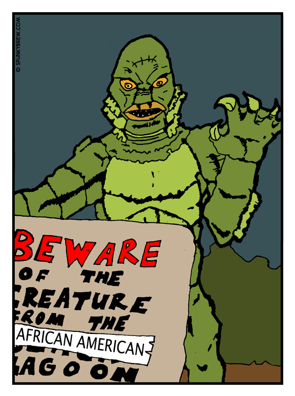 Creature from the African-American Lagoon - webcomic strip