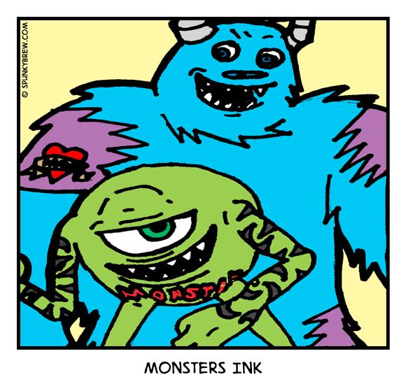 Monsters Ink - webcomic strip