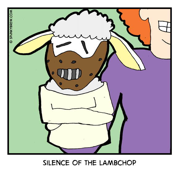 Silence of the Lambchop - webcomic strip