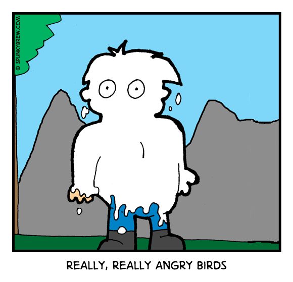 Really, Really Angry Birds - webcomic strip
